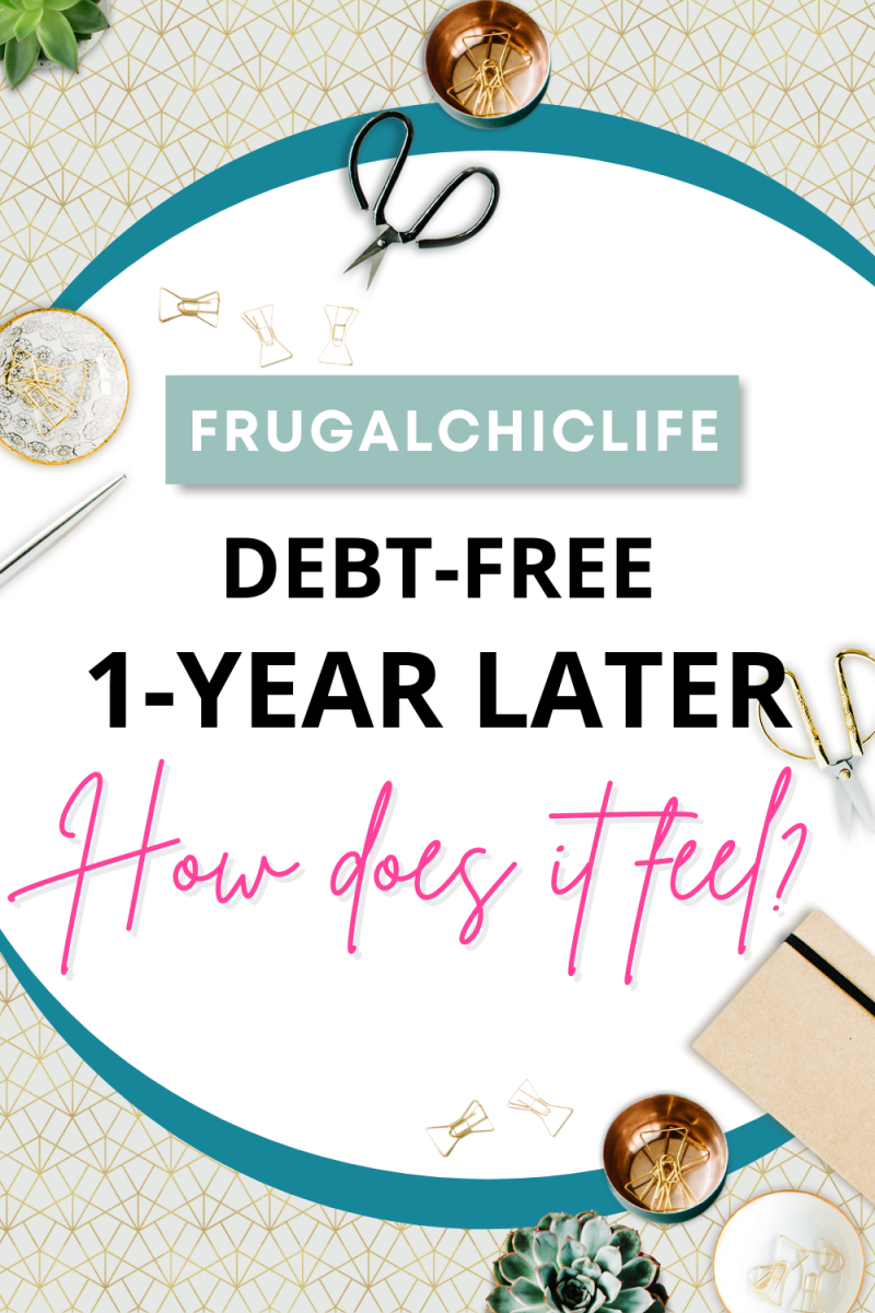 Debt Free 1 Year Later