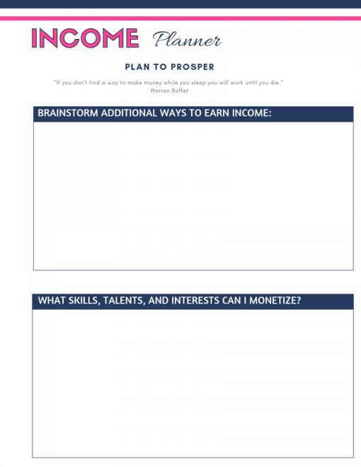 Income Planner