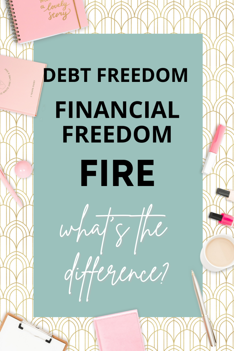 Debt Freedom, Financial Freedom, FIRE