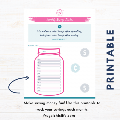 Mason Jar Savings Tracker