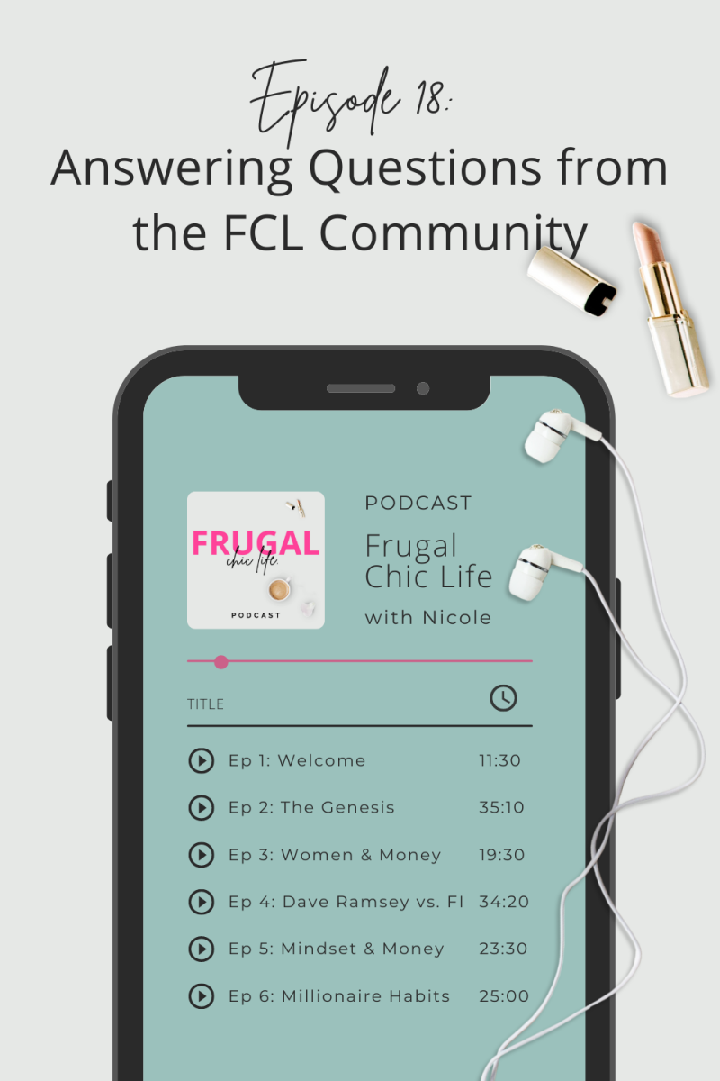 Frugal Chic Life Podcast Episode 18